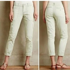 Anthropologie Distressed Jeans Size 26 Pilcro Mint